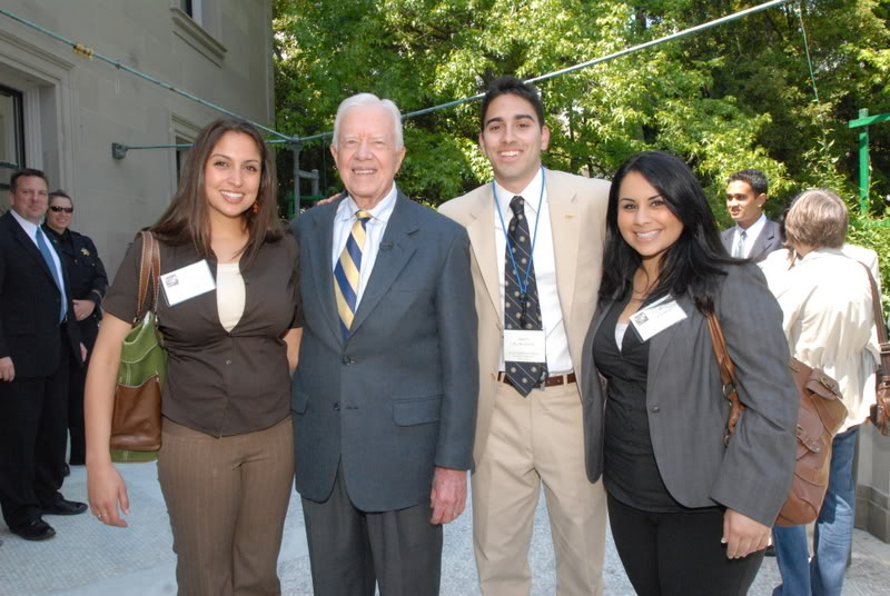 Picture of students with President JImmy Carter